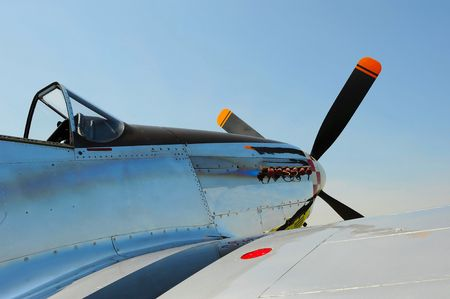 vintage military propeller aircraft