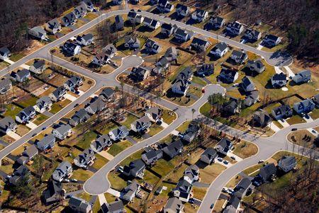 subdivisions: aerial view of subdivision