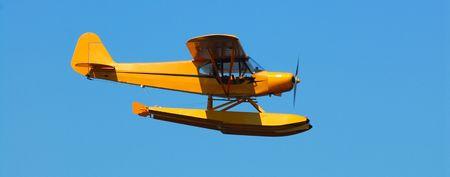 Floatplane in flight