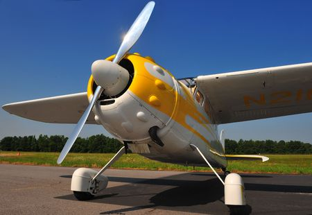 classic propeller airplane