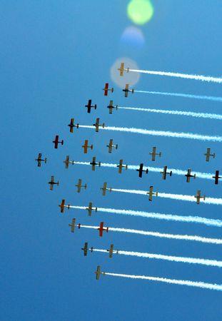 aircraft in formation flight