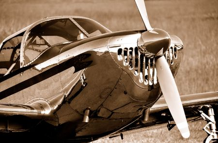 classic airplane in sepia