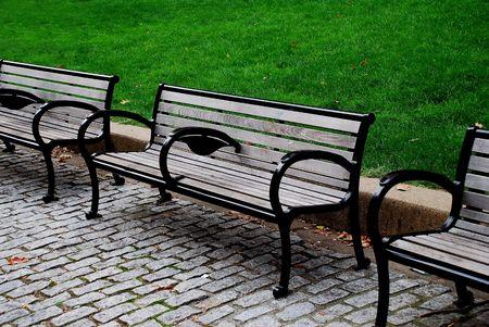 park benches Stock fotó