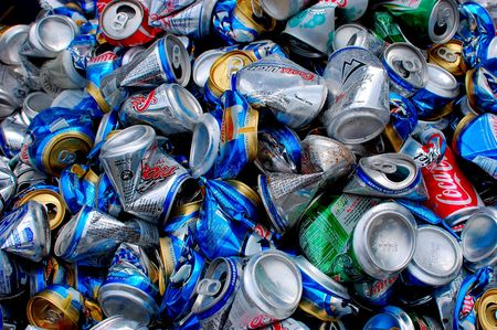 Aluminium cans at recycle facitily, Richmond, VA, May 23, 2010 Stock Photo - 7357827