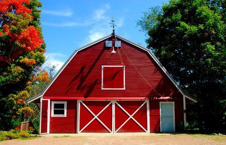 warren: red barn, Warren, VT. August 22, 2008