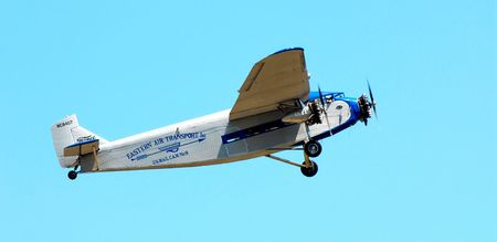 Ford Trimotor aircraft, airshow, WI, July, 23, 2007