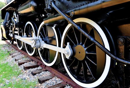 train wheels and track