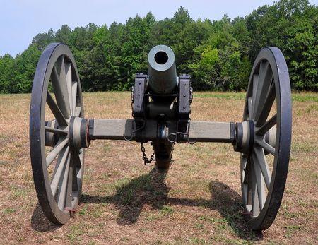 civil war cannon front view photo