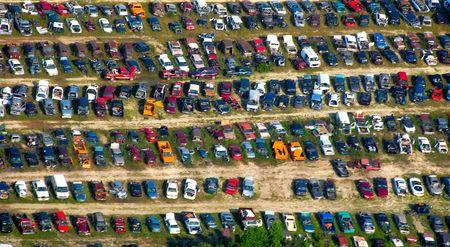 salvage yard: Petersburg, VA, salvage yard, aerial view, July 11, 2007