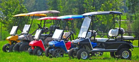 golf carts 版權商用圖片
