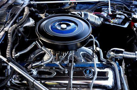 빈티지 자동차의 고성능 엔진 스톡 콘텐츠