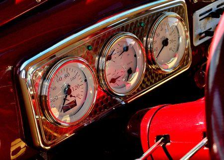 vintage automobile instrument panel