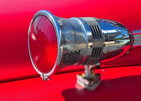 vintage fire engine light and siren detail