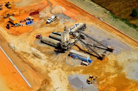 luchtfoto van commerciële bouwproject Redactioneel