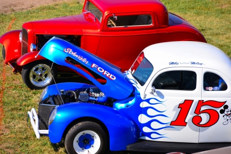 vintage race cars, Oshkosh, WI., July 2012 Editorial