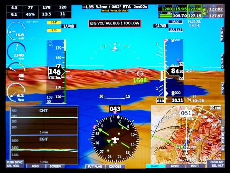 standard modern aircraft naviagion display