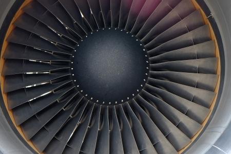 turbofan: motor de avi�n a reacci�n Foto de archivo