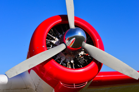 engine: Classic radial engine propeller aircraft