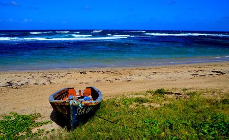 abandon: abandon boat on tropical beach