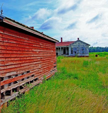 outbuilding: abandoned farm buildings