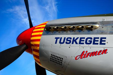 Tuskegee Airmen airplane Banco de Imagens - 44424963