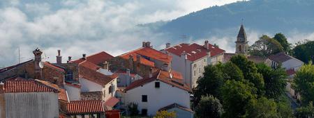 tile: tile rooftops in Croatia Stock Photo