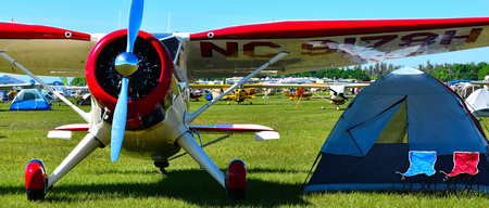 camping site: aircraft camping site