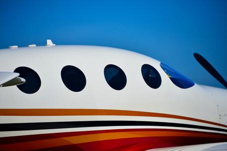 sleek: sleek view of business aircraft Stock Photo