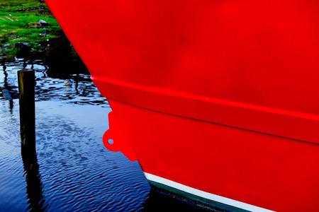 hull: red ships hull Stock Photo