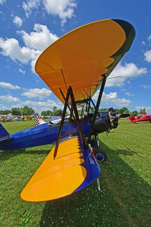 classic biplane Stock Photo