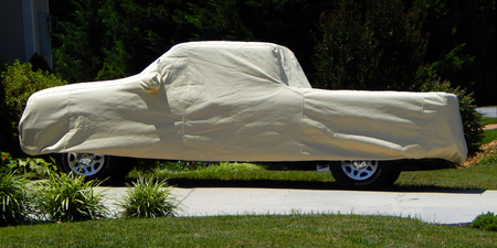 covered pickup truck