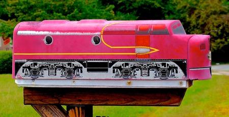 locomotive mailbox