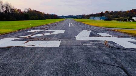 Runway at general aviation airport
