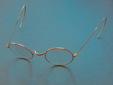 Vintage gold glasses Stock Photo