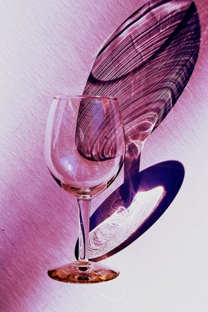 Wine glass and shadow