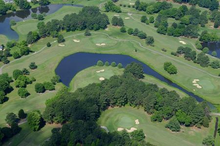Golf course aerial view 版權商用圖片