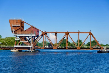 Drawbridge on a river Stockfoto