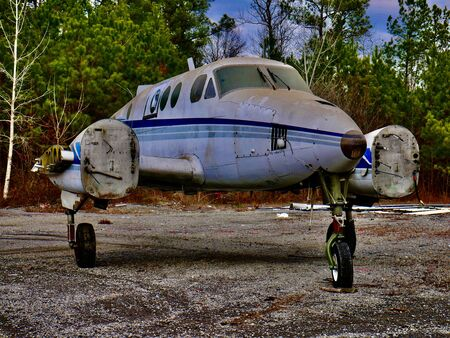 Abandoned turboprop aircraft