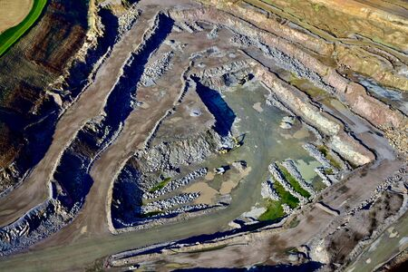 aerial view of stone quarry