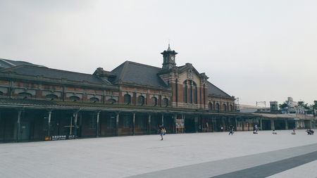 Taichung Station and square,cloudy day 報道画像