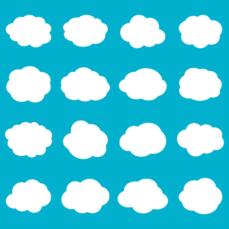 white clouds: Blank empty white clouds