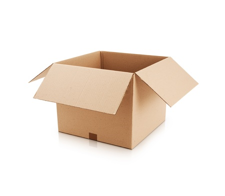 boxes: Cardboard box Stock Photo