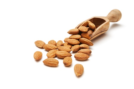 Almond in a wooden scoop Stock Photo - 17649094