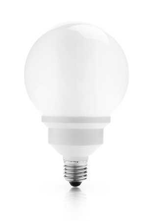 Energy saving fluorescent light bulb Stock Photo - 17649097
