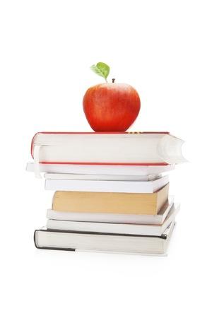 director de escuela: Libros y manzana