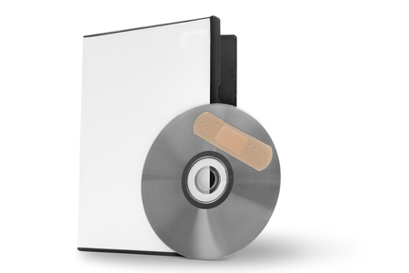 spy ware: CD with software patch Stock Photo