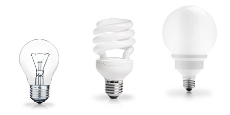 Three generations of light bulbs Stock Photo - 17651051