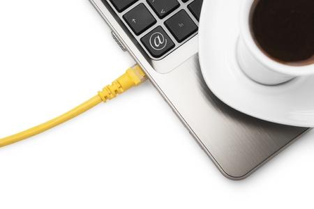 cafe internet: Internet Cafe-Internet por cable, computadora port�til y el caf�