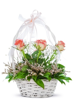 Roses in a basket photo