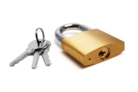 Padlock and keys Stock Photo - 17649188